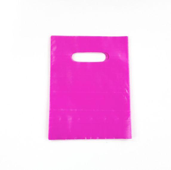 Sacola Plástica 16x20 PINK - alça boca de palhaço