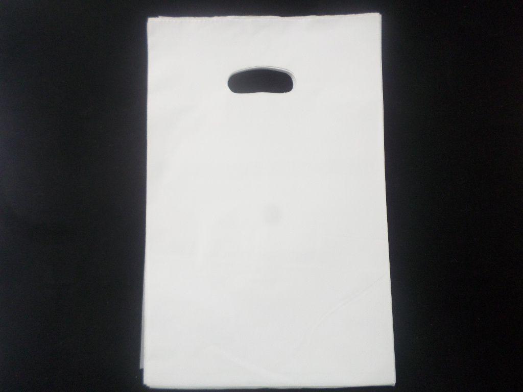 Sacola Plástica BRANCA 30x40 - alça boca de palhaço