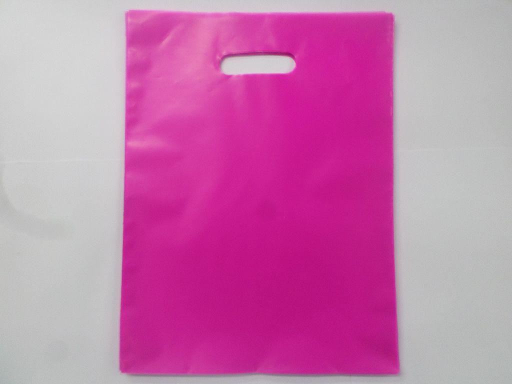Sacola Plástica PINK  30x40 -alça boca de palhaço