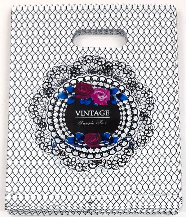 SACOLA PLÁSTICA ( VINTAGE  ) 15x20 -100 UNID