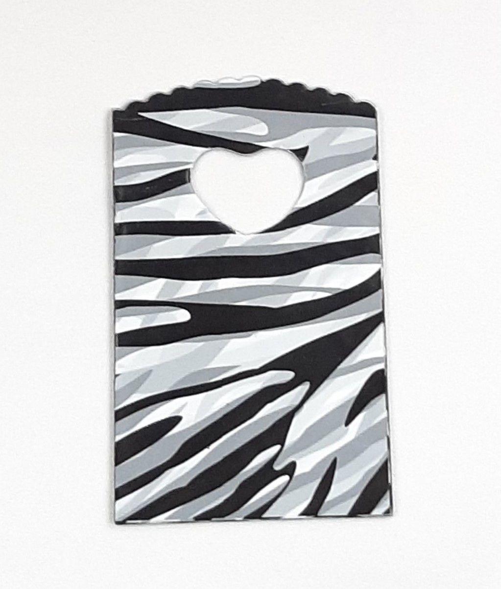 Sacola Plástica ( Zebra  ) 9x15 pacote com 100 unidades