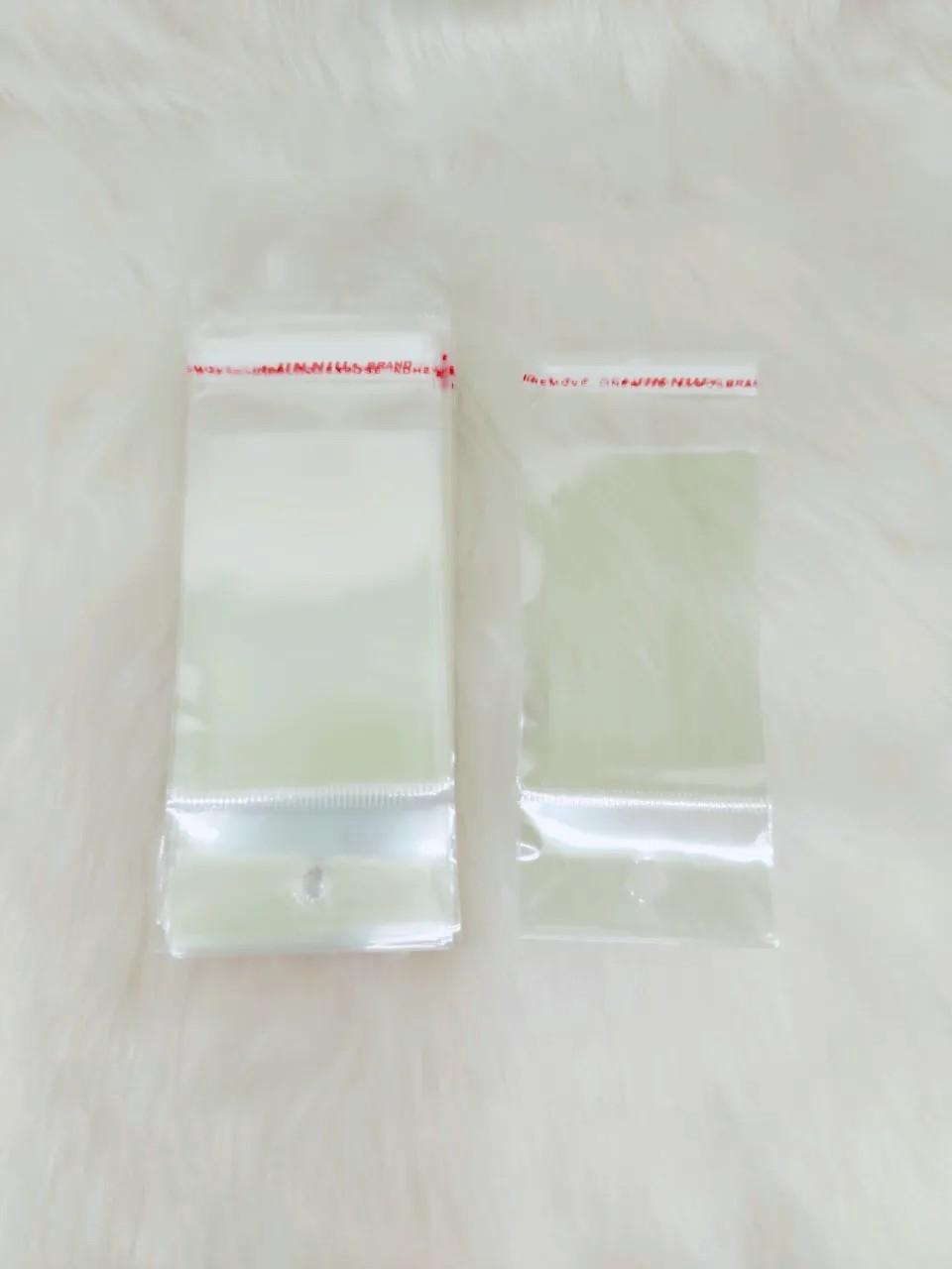 Saquinho plástico adesivado 5x7 com furo pacote com 100 unidades