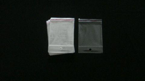 Saquinho plástico adesivado 8x8 com furo pacote com 100 unidades