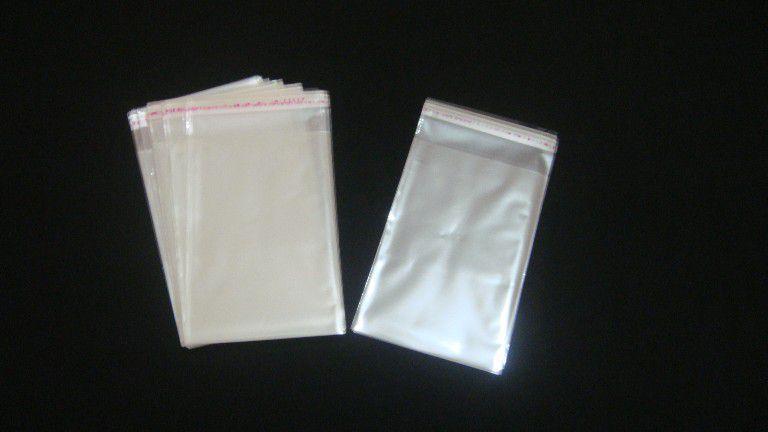 Saquinhos plástico adesivado 8x12 pacote com 100 unidades