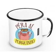 Caneca Retrô Esmaltada Porquinho