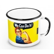 Caneca Retrô Esmaltada We Can Do It!