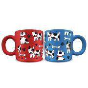 Canecas Cerâmica 100 ml Cachorros (o par)