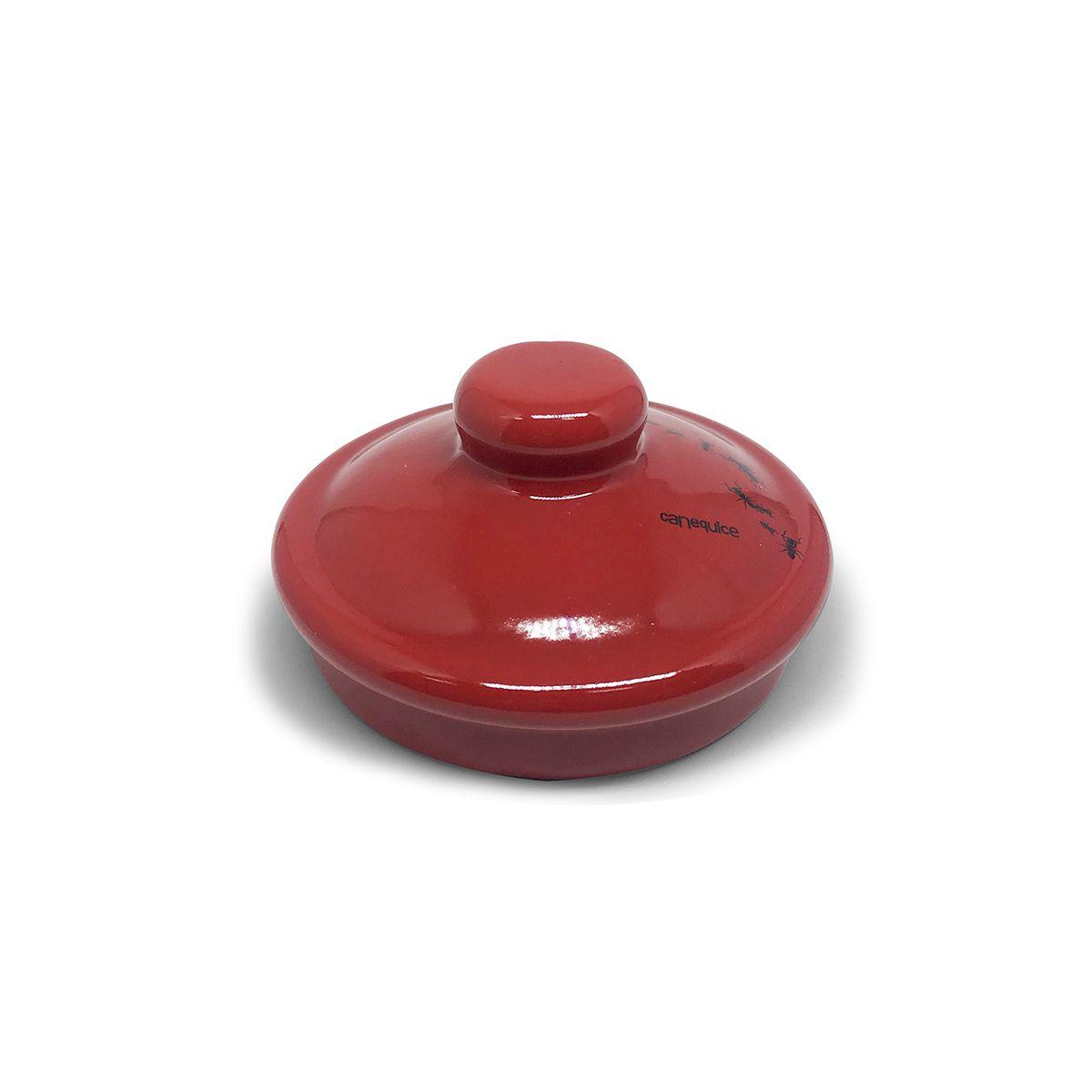 Açucareiro Esmaltado Docinho Vermelho