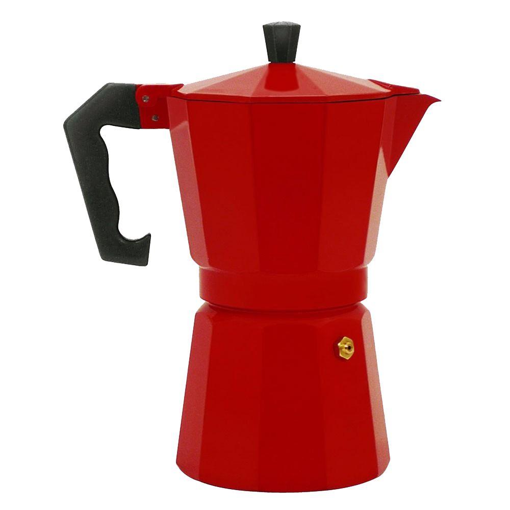 Cafeteira Tipo Italiana Moka Vermelha 6 Cafezinhos