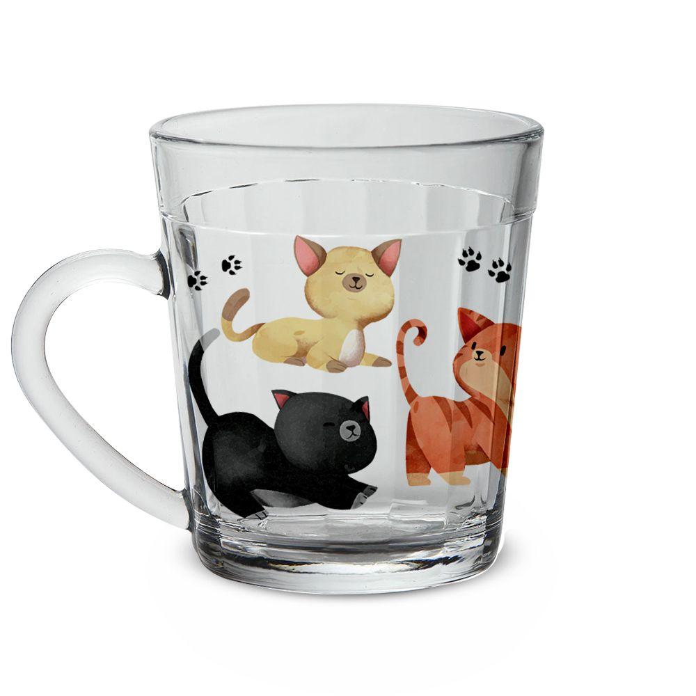 Caneca Americana de Vidro Gatos