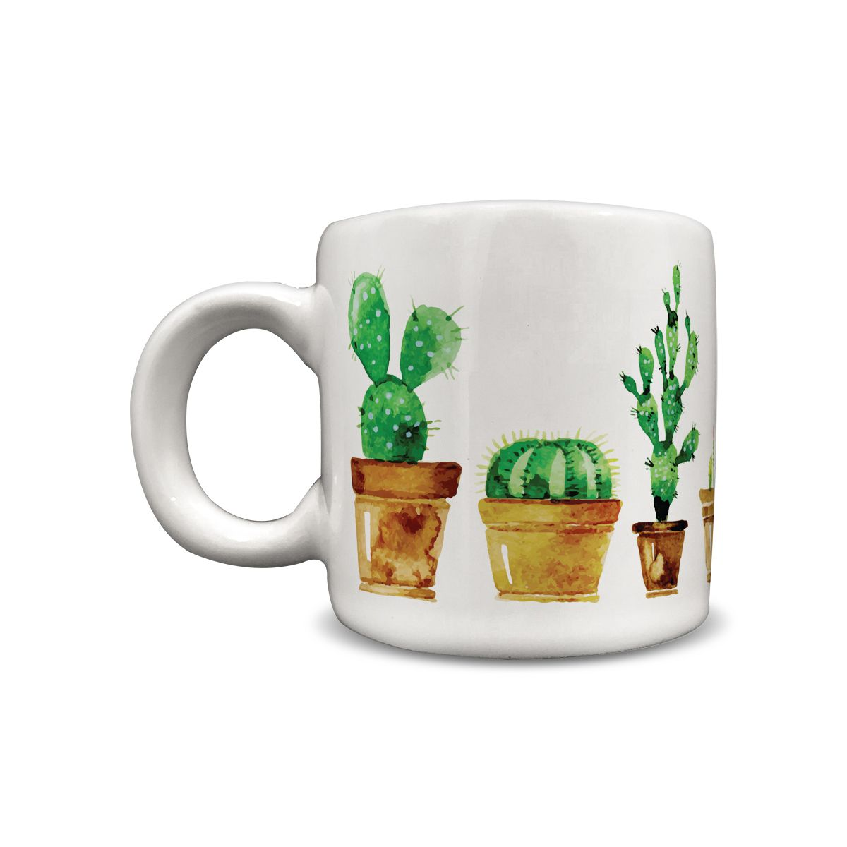 Caneca Cerâmica 100 ml Cactus