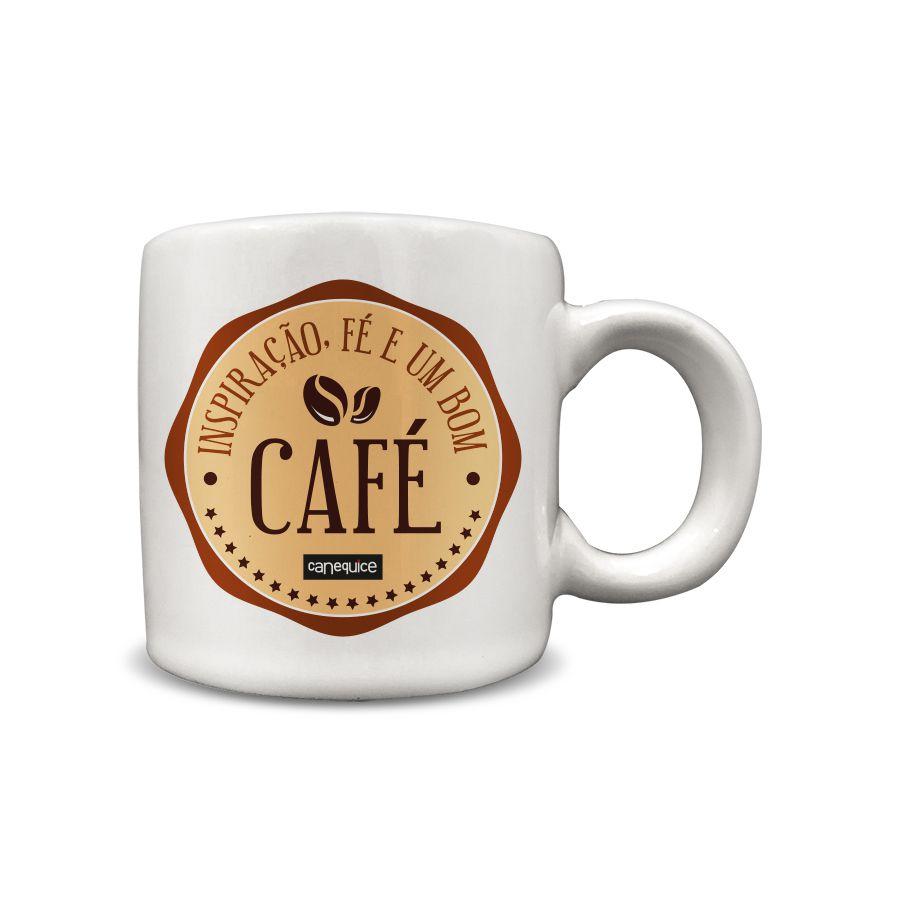 Caneca Cerâmica 100 ml Fé Café