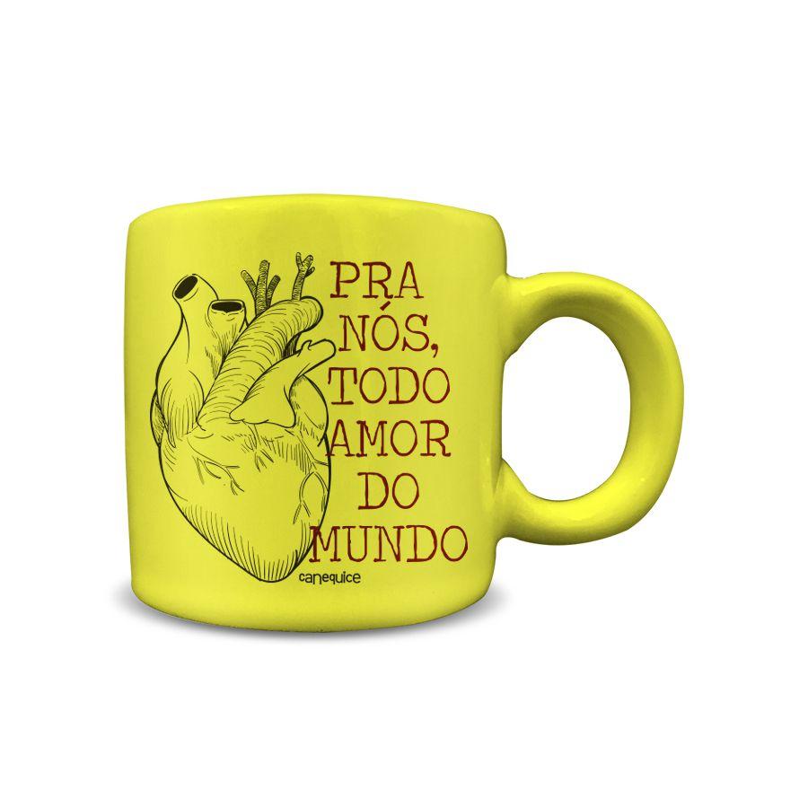 Caneca Cerâmica 100 ml Todo Amor