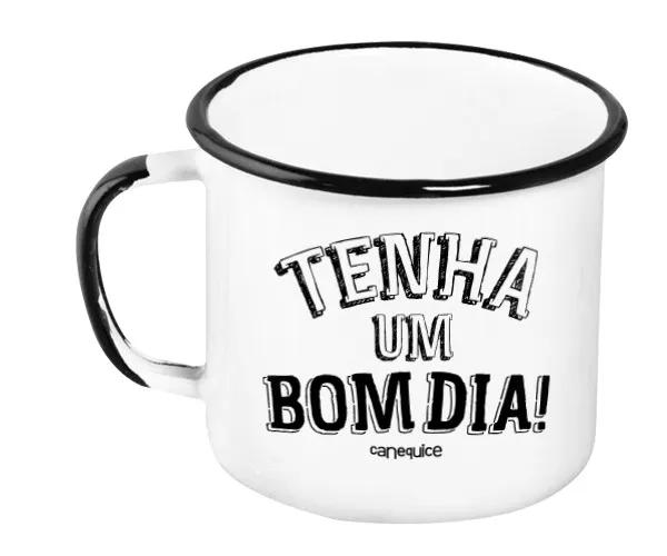 Caneca Esmaltada Bom Dia