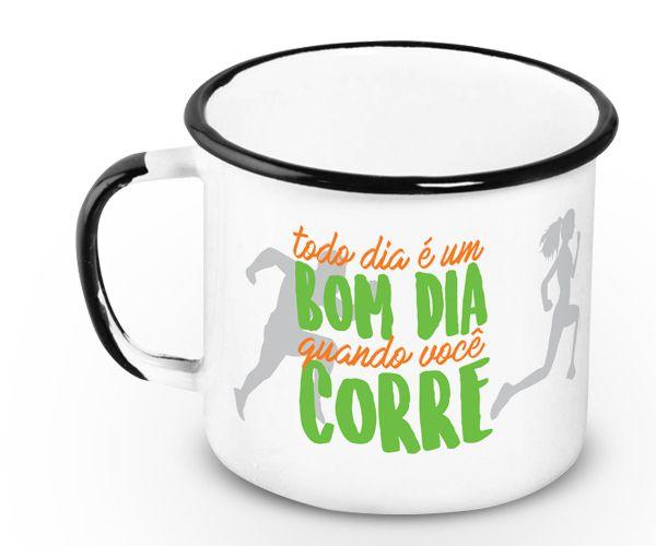 Caneca Esmaltada Corrida