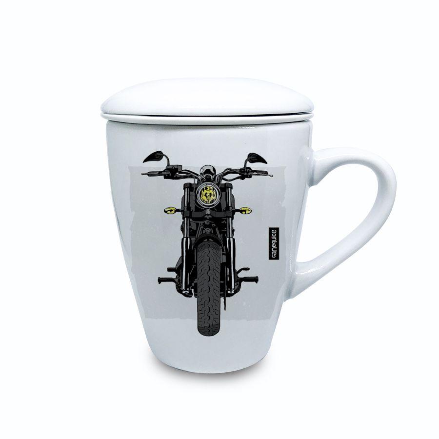 Caneca Infusora Porcelana Racer