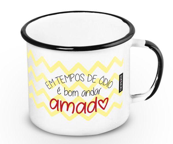 Caneca Retrô Esmaltada Amadx