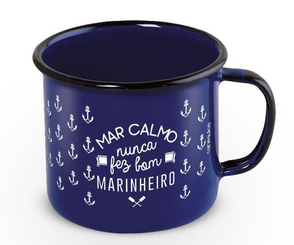 Caneca Retrô Esmaltada Maré