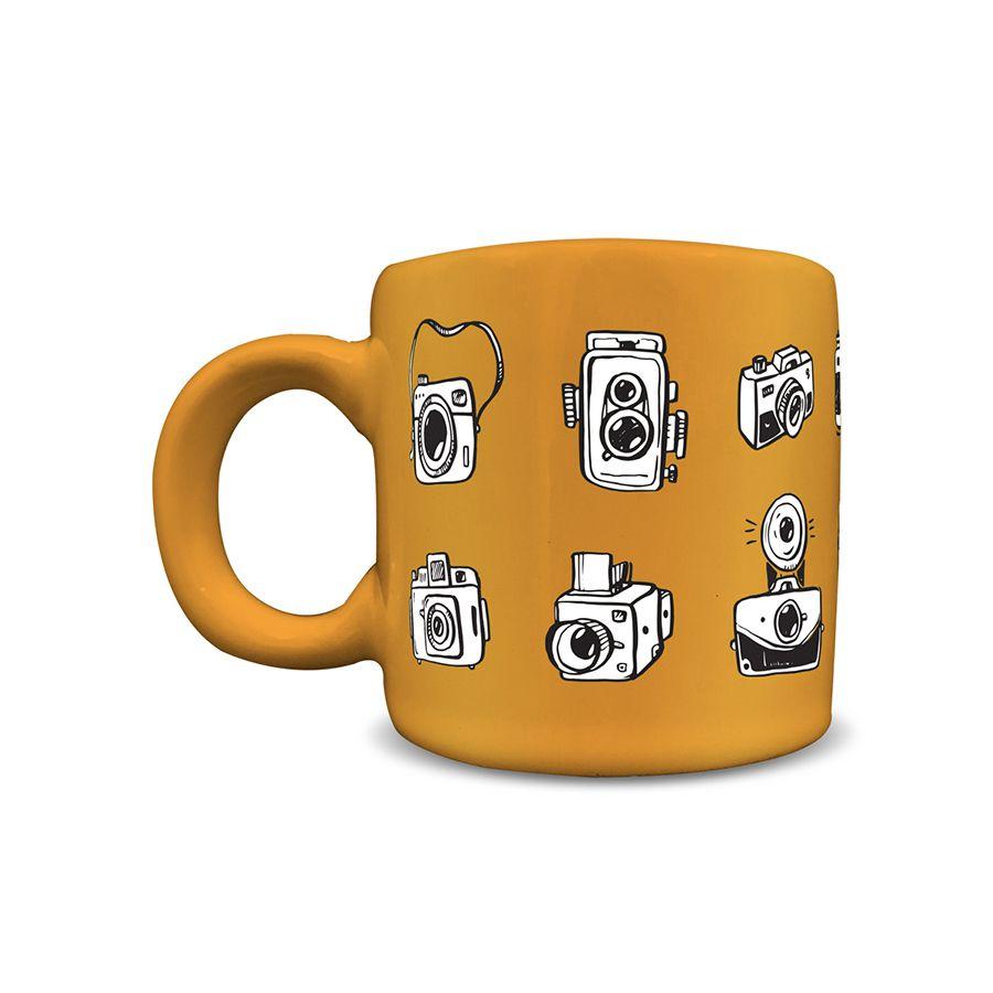 Canecas Cerâmica 100 ml Câmeras (o par)
