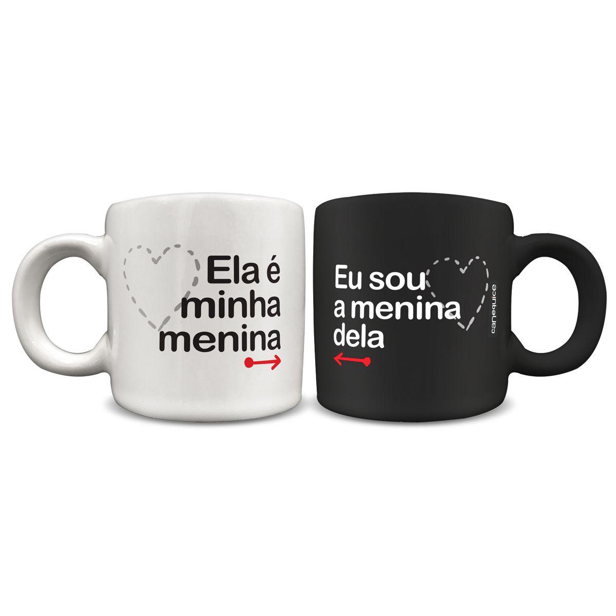 Conjunto Mini Canecas Meninas