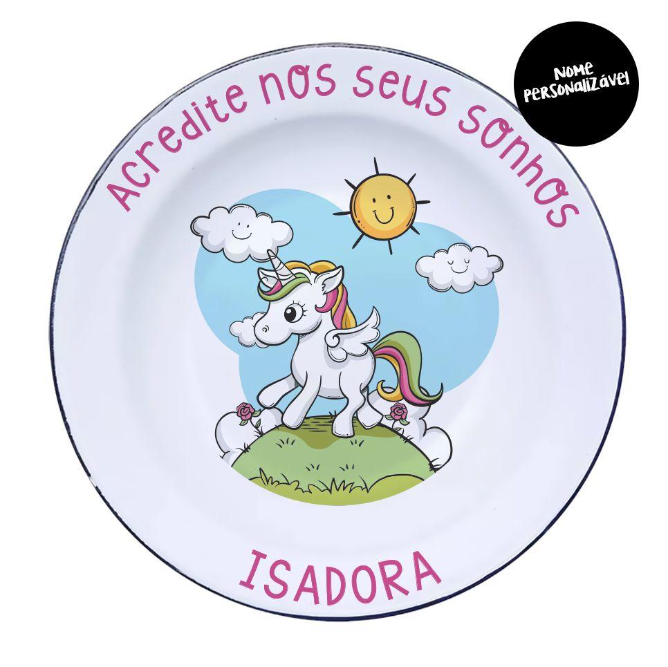 Kit Retrô Infantil Unicórnio