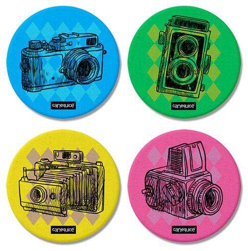 Porta Copos Câmeras