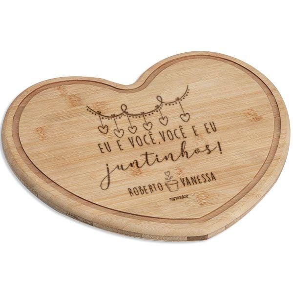 Tábua Bambu Coração