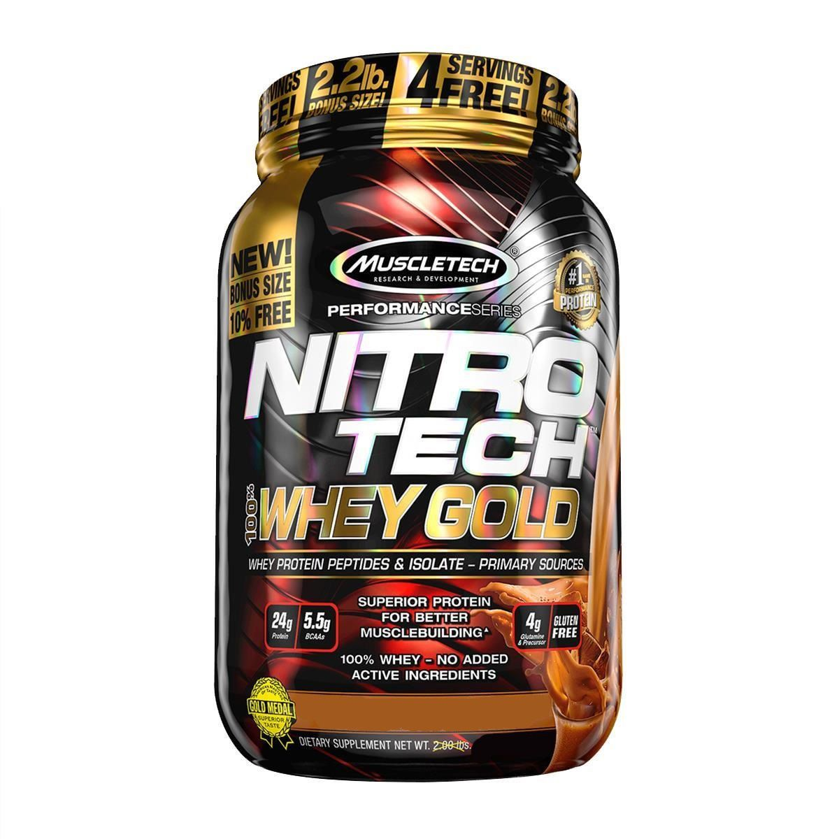 100% Whey Gold Nitro Tech 900g - Muscletech