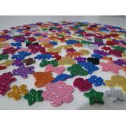 500 Adesivos Pet Piercings Lacinhos Eva Com Glitter Para Petshop Cães E Gatos Banho E Tosa