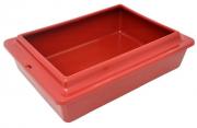 Bandeja Higiênica com Borda de Plástico - Vermelho - São Pet