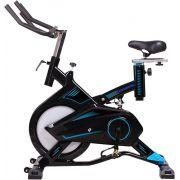 Bike Spinning Super TP1900 Semi Profissional 15 Níveis  O'neal Preto e Azul