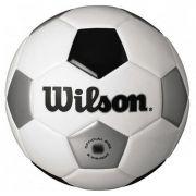 Bola de Futebol Tradicional N°4 Branco/Prata/Preto Wilson