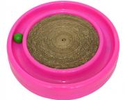 Brinquedo Arranhador Estimulante com Bolinha Gato Cat Miau - Rosa
