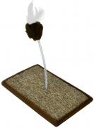 Brinquedo Carpete para Gato - Marrom - São Pet