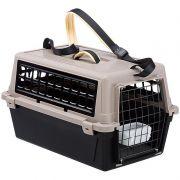 Caixa de Transporte Atlas Trendy PLUS 10 para Cães e Gatos - Pequeno - Preto e Cinza - Ferplast