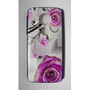 Capinha p/ Celular Motorola G6 PLAY - Flores e brilho Rosa