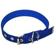 Coleira em Couro SIntético Reforçada - Azul - Nº0 - São Pet