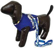 Colete Aerado com Guia - Azul - Pequeno - São Pet