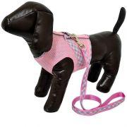 Colete Aerado com Guia - Rosa - PP - São Pet
