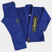 Kimono First Jiu Jitsu 100% Algodão Trançado Azul Pretorian