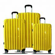 kit de malas miami tov181 P, M, G rodas 360º amarelo santino