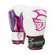 Luva Boxe Muay Elite Training Branca/Roxo Pretorian