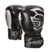 Luva Boxe Muay Elite Training Preta/Prata Pretorian
