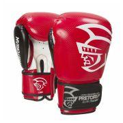 Luva Boxe Muay Elite Training Vermelha Tira Aderente Pretorian