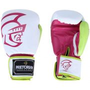 Luva Boxe Muay Thai Training Branco/Verde Pretorian