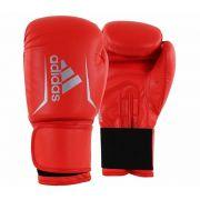 Luva de Boxe Speed 50 Vermelho Solar c/ Branco - Adidas