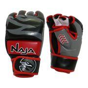Luva de MMA New Extreme Preta/Vermelha Tam Único Naja