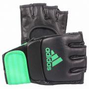 Luva de MMA Preta c/ Verde Limão - Adidas