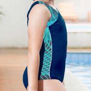 Maiô Kids Nadador de Helanca Funny Azul Marinho c/ Estampa - Hammerhead