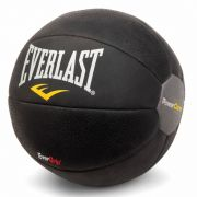 Medicine Ball Power Core Preto 4Kg EverGrip Everlast